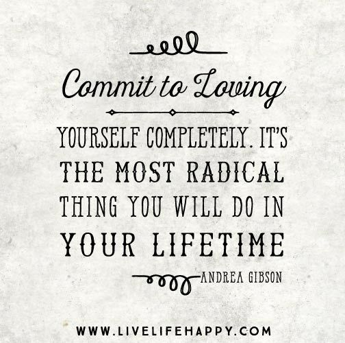 commit to loving yourself